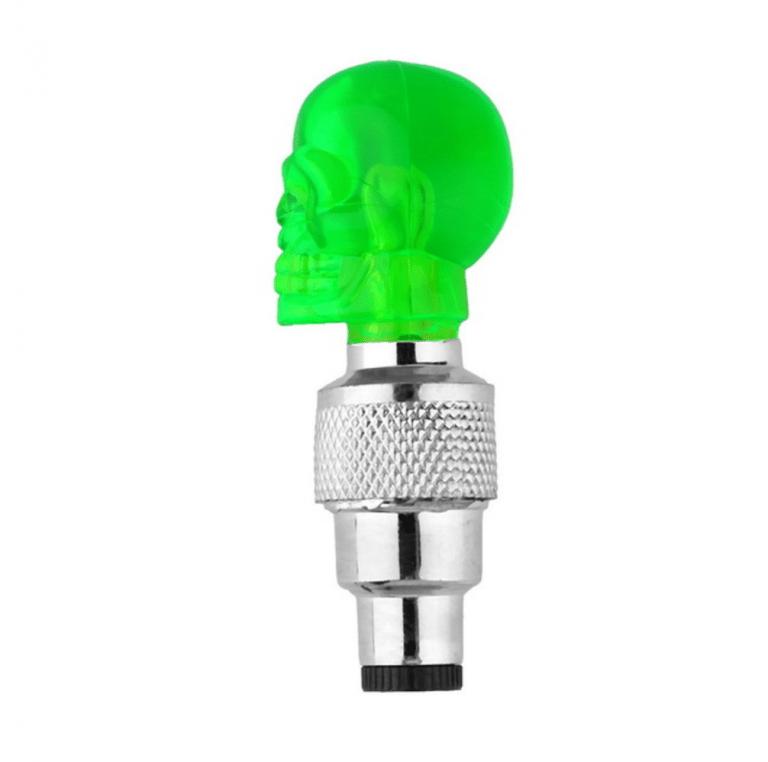 bouchon valve chambre à air tête mort skull crâne lumière bouchon