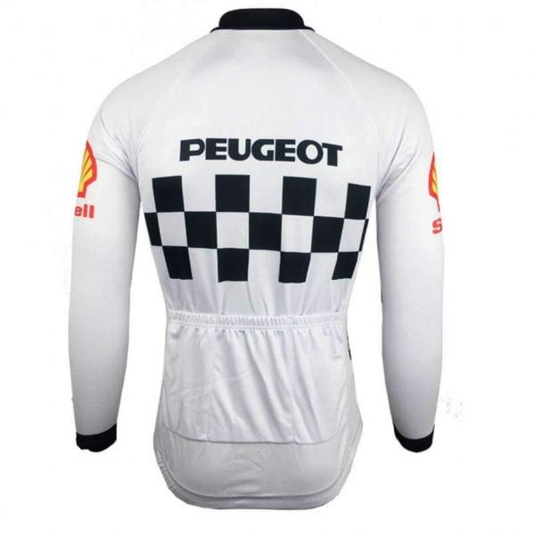 maillot vélo cyclisme peugeot manches longues vintage eroica