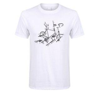 tshirt t-shirt vélo course vintage assemblage kit