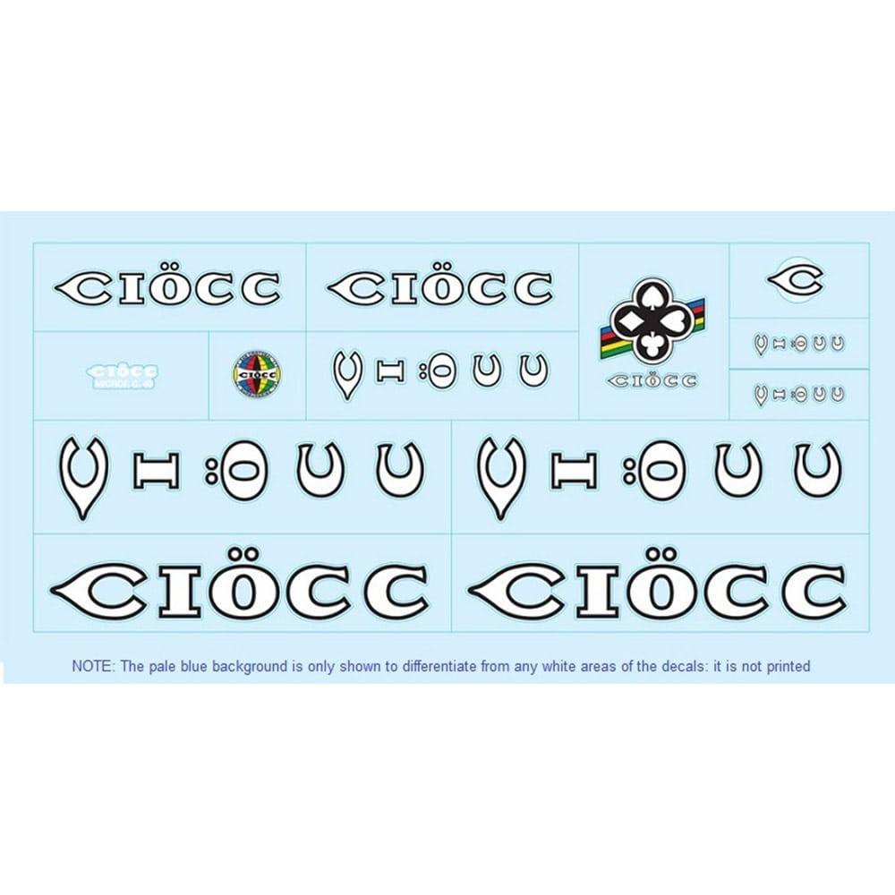 Ciöcc sticker autocollants velo vintage