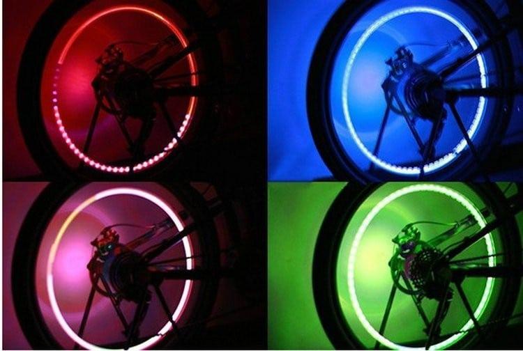 bouchon valve chambre air vélo fluo néon