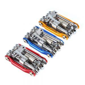 outil kit réparation 11 en 1 portatif vélo