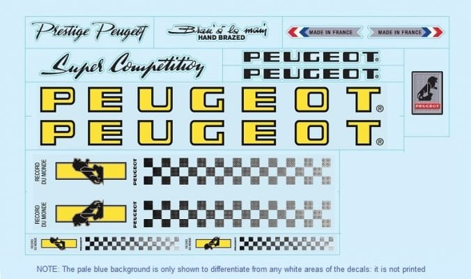 set peugeot stickers restauration