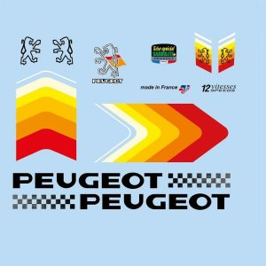set stickers elo course vintage peugeot