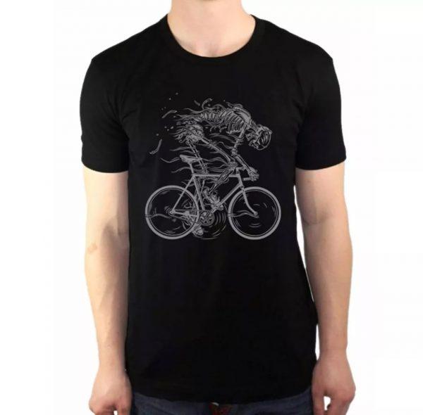 tshirt squelette vélo course piste hell rider