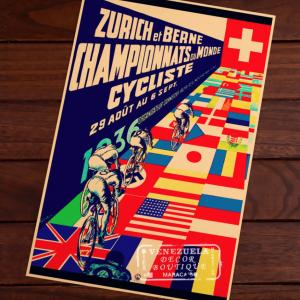 affiche velo vintage zurich berne