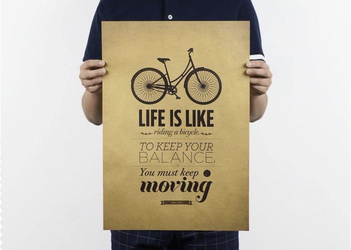 "affiche vélo vintage ""life is bike"""