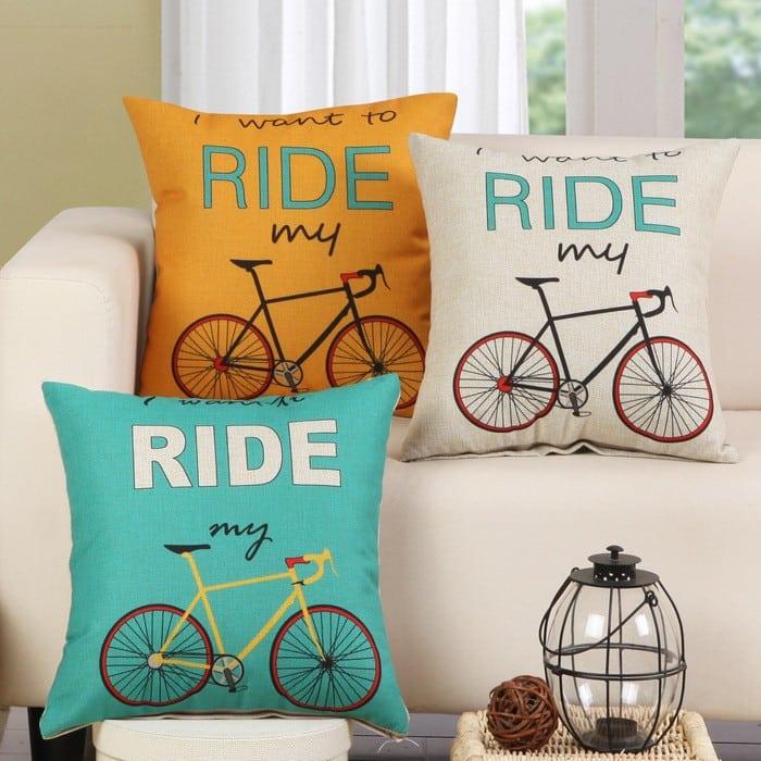 Housse de coussin vélo