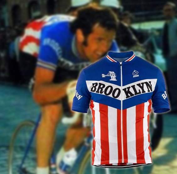 maillot cycliste vintage brooklyn