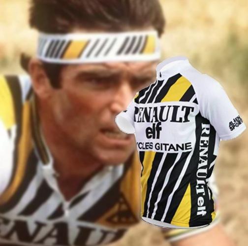 maillot cycliste vintage renault elf gitane