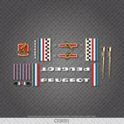 peugeot stickers autocollant velo course vintage
