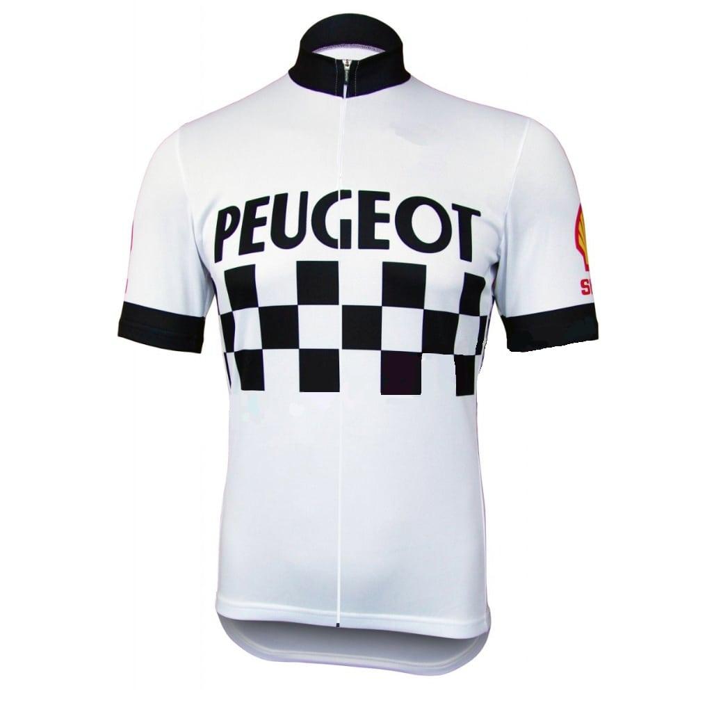 peugeot shell michelin maillot vélo course vintage eroica