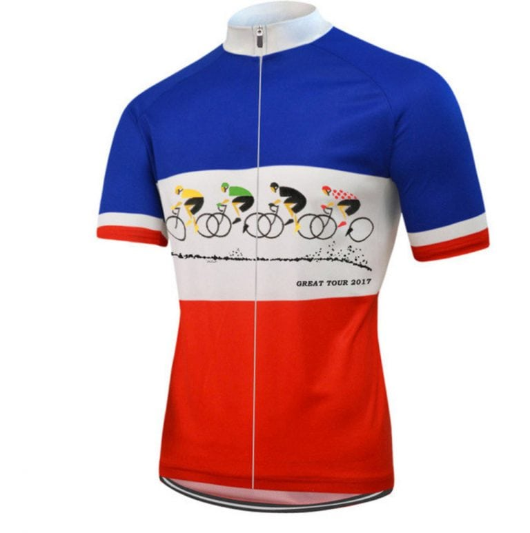 maillot cyclisme france tricolore patriote