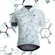 maillot cyclisme molécules fixie original design