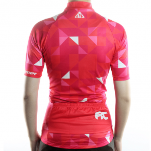 maillot femme rose cyclisme
