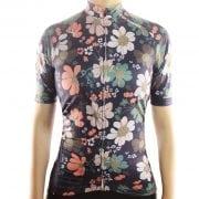 maillot femme cyclisme cycliste fleurs