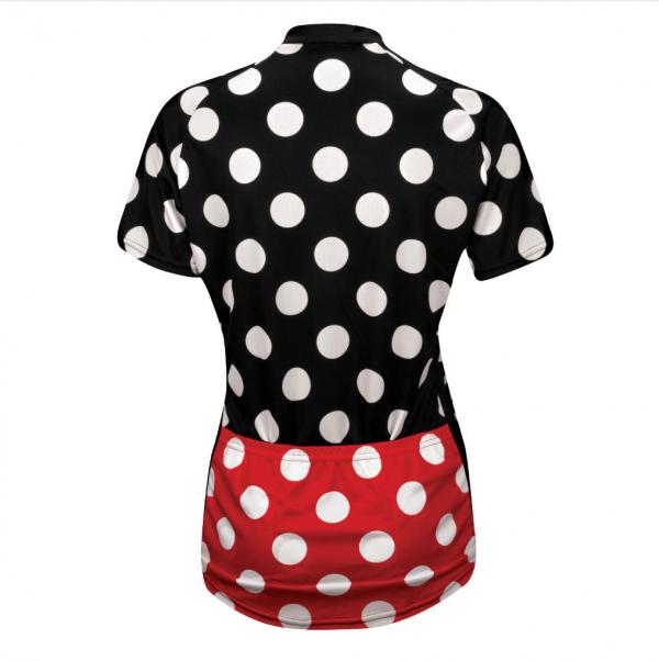 maillot femme cyclisme cycliste pois
