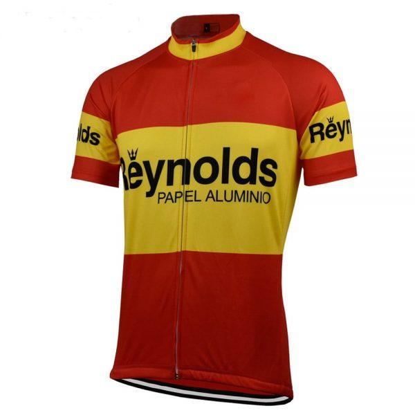 maillot vintage reynolds dunlop cyclisme
