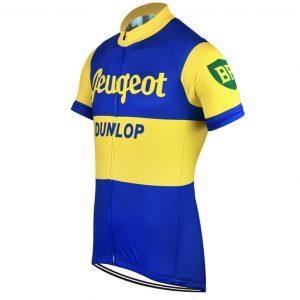 maillot vintage peugeot dunlop cyclisme