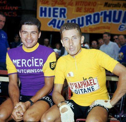 maillot cycliste vintage poulidor mrercier eroica