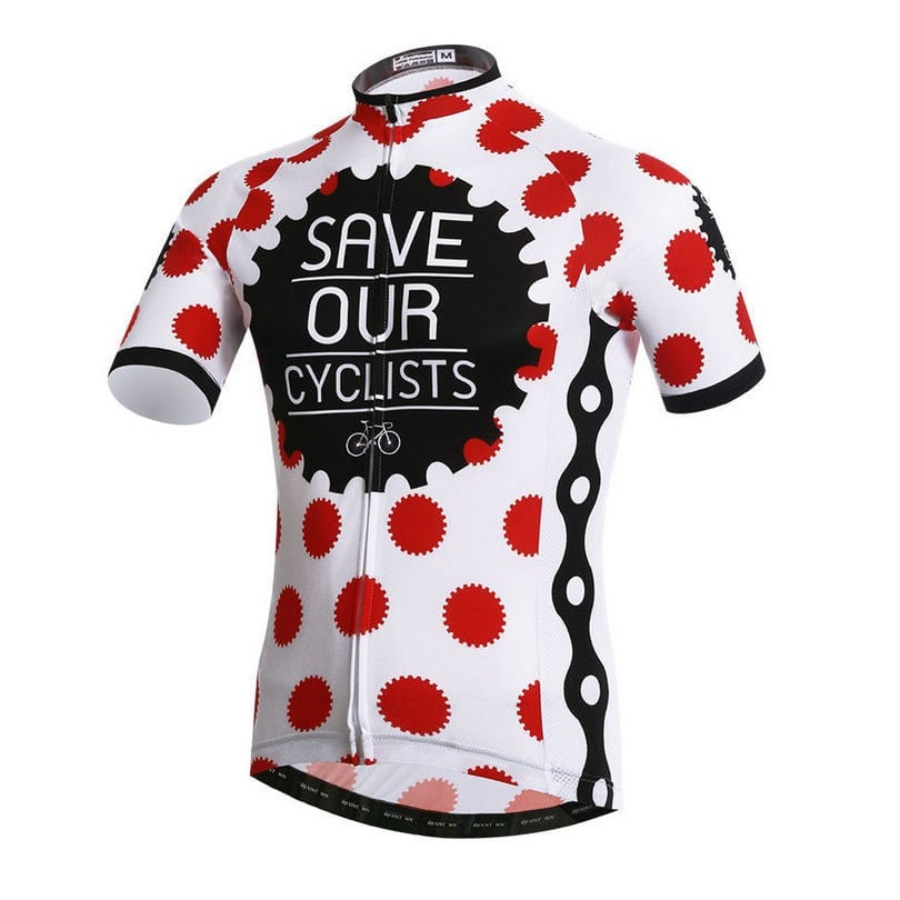 maillot save our cyclists cyclisme original vélo