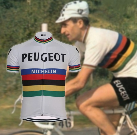 maillot cycliste vintage peugeot michelin