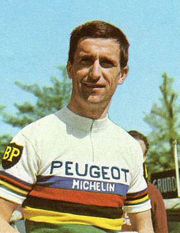 maillot cycliste vintage peugeot tom simpson 1965