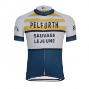maillot vintage pelforth lejeune vélo cycliste