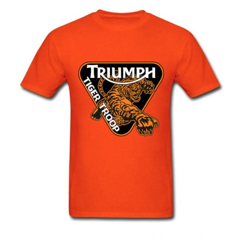 t-shirt tshirt triumph moto vintage custom café racer