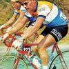 maillot cycliste vintage pelforth lejeune jan janssen eroica
