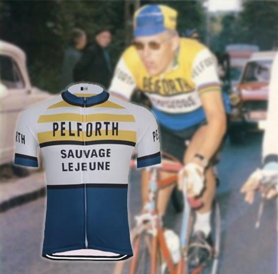 maillot cycliste vintage pelforth lejeune