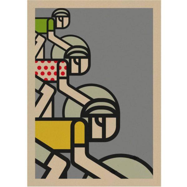 affiche vintage tour de france vélo kraft papier