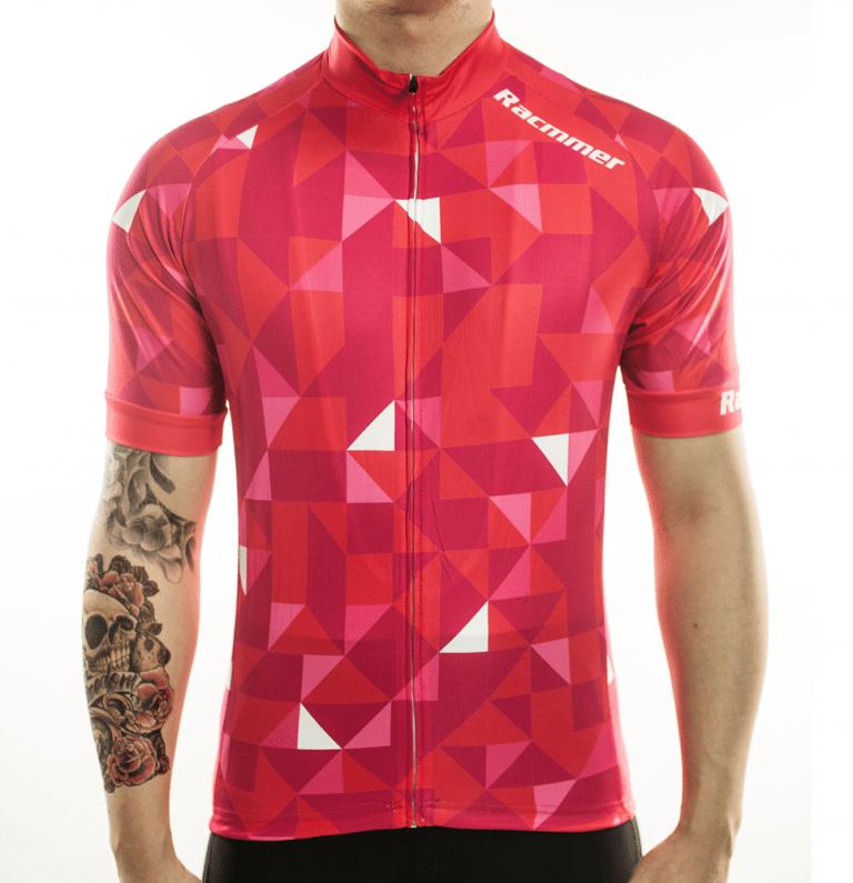 maillot rouge cyclisme original vélo