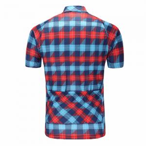 maillot cyclisme chemise carreaux original vélo