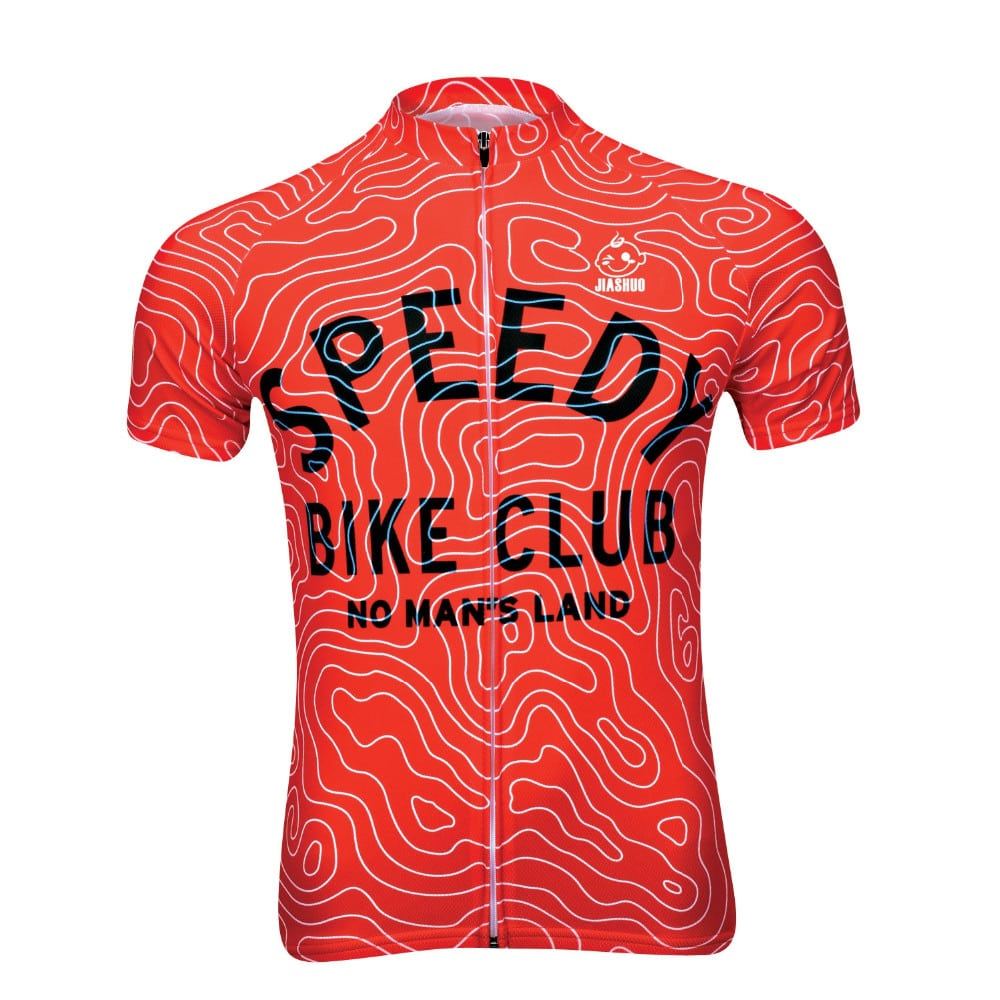 maillot cyclisme vélo original rouge bike club
