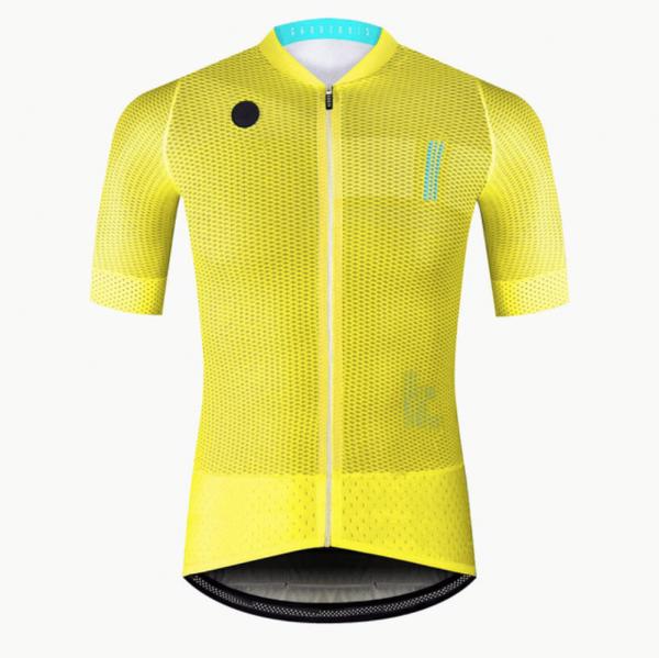 maillot cyclisme jaune fluo flashy vélo