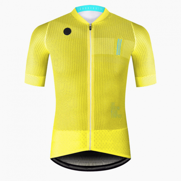 maillot cyclisme jaune fluo flashy vélo