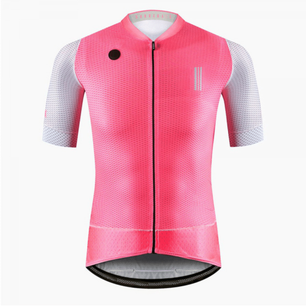 maillot cyclisme fluo flashy vélo rose
