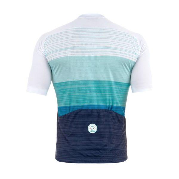 maillot original cycliste vélo bleu