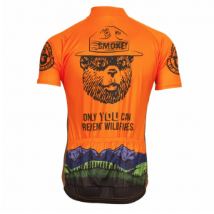maillot original cycliste vélo orange