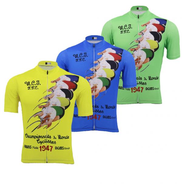 maillot vélo cyclisme vintage retro champion monde