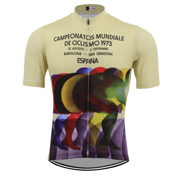 maillot cyclisme eroica vintage vélo espagne 1973