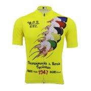 maillot vélo cyclisme vintage retro jaune champion monde