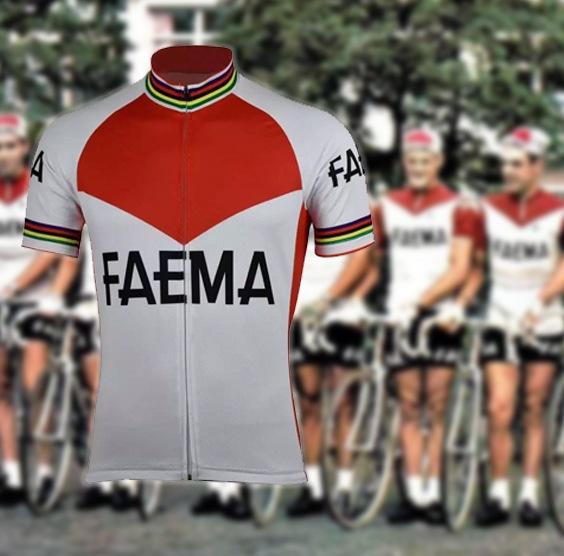 maillot cycliste vintage faema merckx