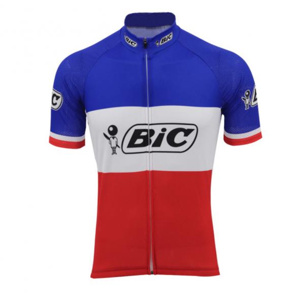 maillot bic tricolore france bleu blanc rouge vélo cyclisme vintage