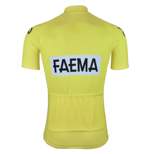 maillot jaune cyclisme vintage eroica faema eddy merckx