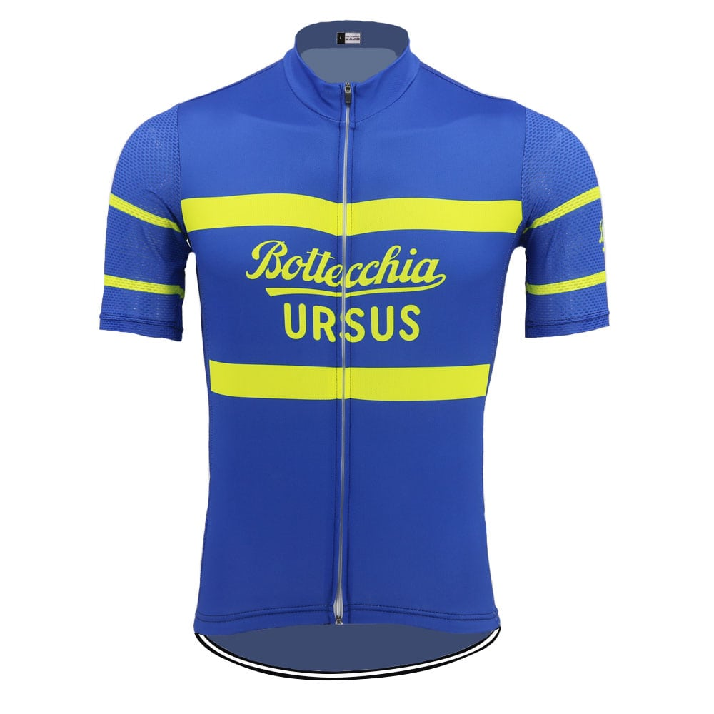 maillot bottecchia bleu vélo cyclisme vintage eroica