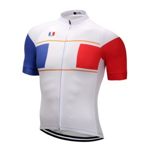 maillot cyclisme vélo france bleu blanc rouge