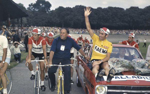 maillot cycliste vintage faema jaune