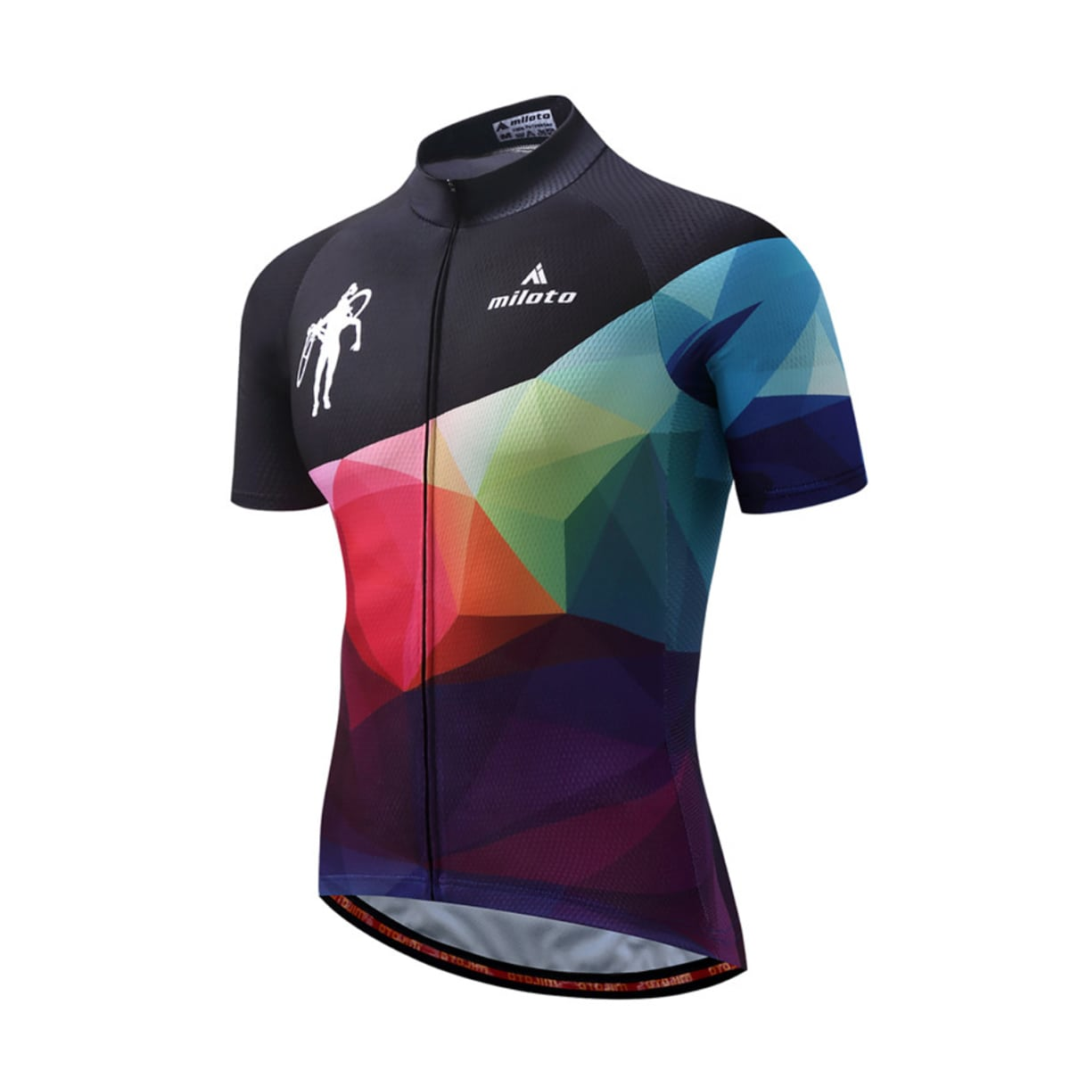 maillot original multicolore cyclisme vélo cycliste